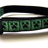 Minecraft Dog Collar Adjustable Sizes (M, L, XL)