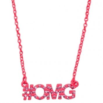 #omg Rhinestone Necklace | Girls Necklaces Jewelry | Shop Justice
