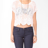 Sheer Boxy Lace Top