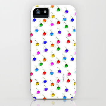3D Glass Rainbow Cherries Pattern - iPhone & iPod Case by THE-LEMON-WATCH