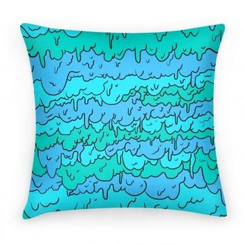 Slimy Blue Pillow
