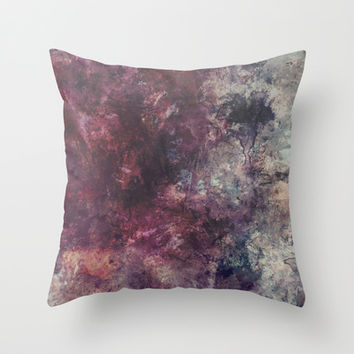 acrylic grunge Throw Pillow by VanessaGF