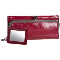HOBO INTERNATIONAL Rachel Tri-Fold Wallet,Mulberry,one size