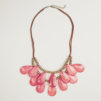 Berry Teardrop Suede Necklace - World Market