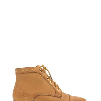 Voyager Faux Leather Lace-Up Booties