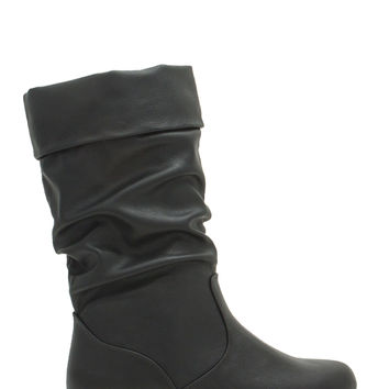 Wonder As U Wander Faux Leather Boots