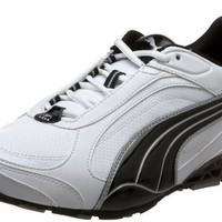 Puma Men`s Cell Cerano Fashion Sneaker,White/Black/Limestone Gray,14 D US