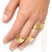 Camila Hammered Ring Set