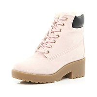 Girls pink justina boot