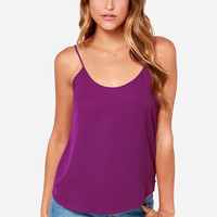 Lucy Love Go To Magenta Tank Top