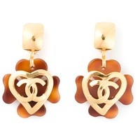 Chanel Vintage Logo Heart Earrings - Rewind Vintage Affairs - Farfetch.com