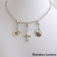 Travel & Long Distance Themed Dangles - Glass Locket Accessory