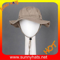 Source 100% cotton wide brim fishing bucket safari hats - Khaki and Brown on m.alibaba.com