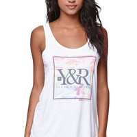 Young & Reckless Tie Dye Double Scoop Tank - Womens Tee - White -