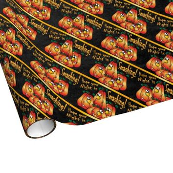 Smashing Pumpkin Gift Wrap