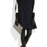 Valentino | Leather-toggled wool-felt cape | NET-A-PORTER.COM