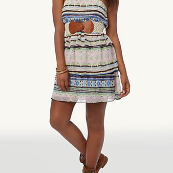 Tribal Print 3-Tier Tube Dress