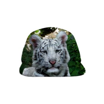 White Bengal Tiger Baseball Hat created by ErikaKaisersot | Print All Over Me
