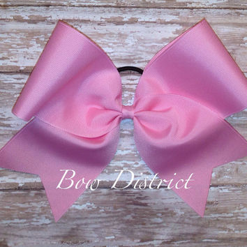"3"" Solid Pink Plain Cheer Bow"