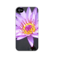 Purple Lotus flower iphone 5 case, Unqiue iphone 4 case, Water Lily iphone case, Flower iphone case, Floral iphone case, zen iphone case