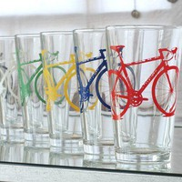 Screen printed bicycle pint by vital