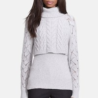 Elizabeth and James Crop Layered Turtleneck Sweater | Nordstrom