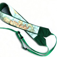 World Map Camera Strap, dSLR Camera Strap, SLR, Nikon, Canon Camera Strap, Women Accessories
