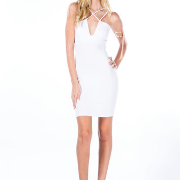 Crossing Paths Strappy Bodycon Dress