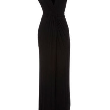 Black twist knot maxi dress - View All  - Dresses  - Dorothy Perkins