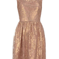Pink foil lace dress - Party Dresses  - Dresses  - Dorothy Perkins