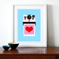 Instant Love  A3 297 x 42cm print by yumalum on Etsy