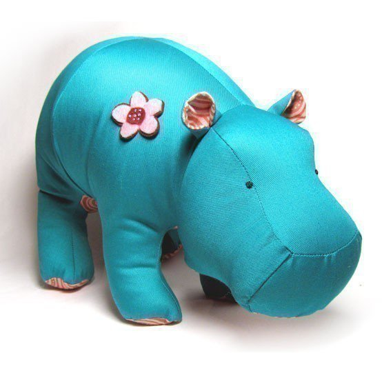 Hippo Heather Stuffed Pattern PDF by FunkyFriendsFactory on Etsy
