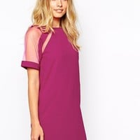 Ginger Fizz Sheer Delight Dress With Mesh Shoulders at asos.com