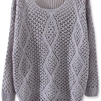 Gorgeous Diamond Crochet Sweater