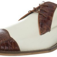 Belvedere Men`s Fano Lace-Up,Brandy/Cream,9 M US