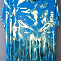 Fringe tie dye shirt by FashionDose on Etsy