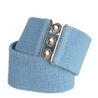 Malco Modes 2 1/2 Inch Wide Elastic Fabric Stretch Cinch Belts with a Metal Clasp Closure