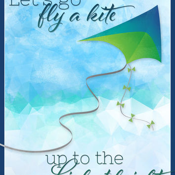 Let's Go Fly a Kite! Art Print by Noonday Design | Society6