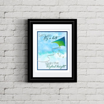 Let's Go Fly a Kite Printable - Inspired by Mary Poppins / Saving Mr Banks