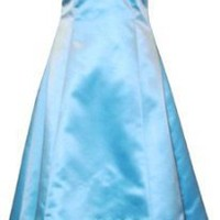 Satin Halter Dress Tulle Mini Train Prom Bridesmaid Holiday Formal Gown Junior Plus Size