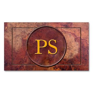Antique Leather Monogram