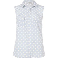 blue polka dot shirt - River Island