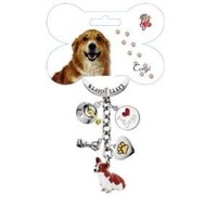 Little Gifts Enamel Corgi Dog Key Chain