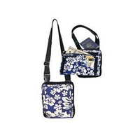 Canvas Travel Shoulder Bag / Blue