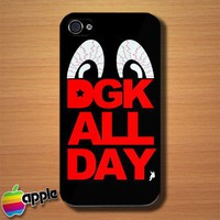 DGK All Day Logo Custom iPhone 4 or 4S Case Cover | Merchanstore - Accessories on ArtFire