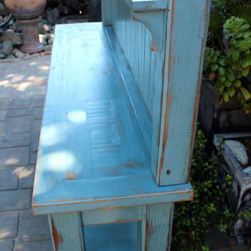 Potting Table - Kitchen Hutch - Handmade Furniture - Shabby - Cottage - Home Decor