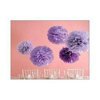 Martha Stewart Crafts Pom Poms, Purple, 2 Sizes