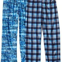 Calvin Klein Boys 8-20 Plaid and Logo Pajama Pant