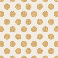Glittering Gold Dots Art Print by Allyson Johnson
