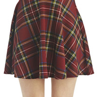 Lauren Plaid Skater Skirt | Wet Seal